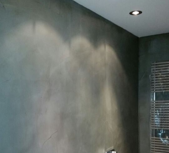 beton cire voor in de badkamer